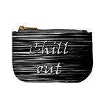 Black an white  Chill out  Mini Coin Purses