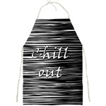 Black an white  Chill out  Full Print Aprons