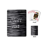 Black an white  Chill out  Playing Cards (Mini)