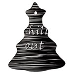 Black an white  Chill out  Christmas Tree Ornament (2 Sides)
