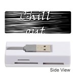 Black an white  Chill out  Memory Card Reader (Stick)