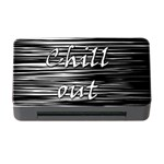 Black an white  Chill out  Memory Card Reader with CF