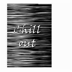Black an white  Chill out  Large Garden Flag (Two Sides) by Valentinaart
