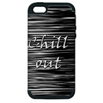 Black an white  Chill out  Apple iPhone 5 Hardshell Case (PC+Silicone)