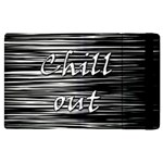 Black an white  Chill out  Apple iPad 2 Flip Case