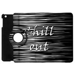 Black an white  Chill out  Apple iPad Mini Flip 360 Case