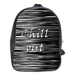 Black an white  Chill out  School Bags (XL)