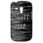 Black an white  Chill out  Samsung Galaxy S3 MINI I8190 Hardshell Case