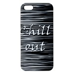 Black an white  Chill out  Apple iPhone 5 Premium Hardshell Case