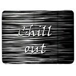 Black an white  Chill out  Samsung Galaxy Tab 7  P1000 Flip Case
