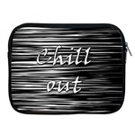 Black an white  Chill out  Apple iPad 2/3/4 Zipper Cases