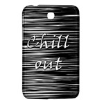 Black an white  Chill out  Samsung Galaxy Tab 3 (7 ) P3200 Hardshell Case