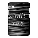 Black an white  Chill out  Samsung Galaxy Tab 2 (7 ) P3100 Hardshell Case
