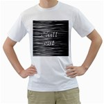 Black an white  Chill out  Men s T-Shirt (White)