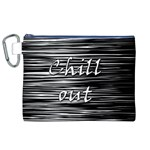 Black an white  Chill out  Canvas Cosmetic Bag (XL)
