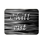 Black an white  Chill out  Double Sided Flano Blanket (Mini)