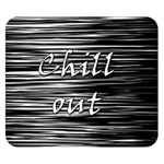 Black an white  Chill out  Double Sided Flano Blanket (Small)