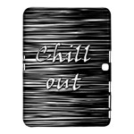 Black an white  Chill out  Samsung Galaxy Tab 4 (10.1 ) Hardshell Case