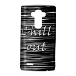 Black an white  Chill out  LG G4 Hardshell Case