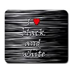 I love black and white 2 Large Mousepads