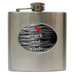I love black and white 2 Hip Flask (6 oz)