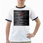 I love black and white 2 Ringer T-Shirts
