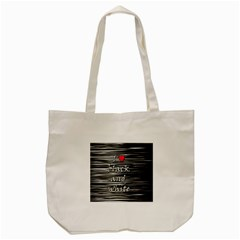 I Love Black And White 2 Tote Bag (cream) by Valentinaart