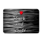 I love black and white 2 Small Doormat