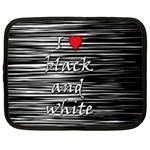 I love black and white 2 Netbook Case (Large)