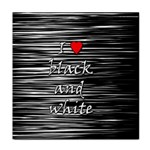 I love black and white 2 Face Towel