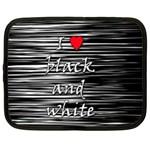 I love black and white 2 Netbook Case (XXL)