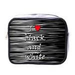I love black and white 2 Mini Toiletries Bags