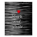 I love black and white 2 Shower Curtain 60  x 72  (Medium)