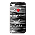 I love black and white 2 Apple iPhone 4/4s Seamless Case (Black)