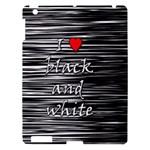 I love black and white 2 Apple iPad 3/4 Hardshell Case