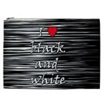 I love black and white 2 Cosmetic Bag (XXL)