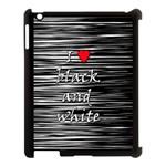 I love black and white 2 Apple iPad 3/4 Case (Black)
