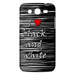 I love black and white 2 Samsung Galaxy Mega 5.8 I9152 Hardshell Case