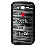 I love black and white 2 Samsung Galaxy Grand DUOS I9082 Case (Black)