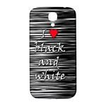 I love black and white 2 Samsung Galaxy S4 I9500/I9505  Hardshell Back Case