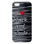 I love black and white 2 iPhone 5S/ SE Premium Hardshell Case