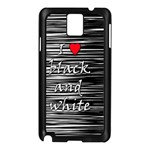 I love black and white 2 Samsung Galaxy Note 3 N9005 Case (Black)