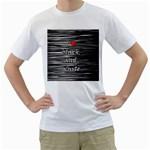 I love black and white 2 Men s T-Shirt (White)