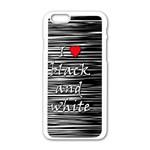 I love black and white 2 Apple iPhone 6/6S White Enamel Case