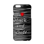 I love black and white 2 Apple iPhone 6/6S Hardshell Case