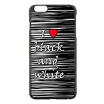 I love black and white 2 Apple iPhone 6 Plus/6S Plus Black Enamel Case