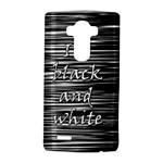 I love black and white 2 LG G4 Hardshell Case