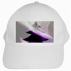Purple Christmas Tree White Cap by yoursparklingshop