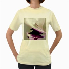 Purple Christmas Tree Women s Yellow T Shirt by yoursparklingshop