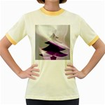 Purple Christmas Tree Women s Fitted Ringer T-Shirts